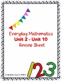 Everyday Mathematics Units 2-10 Review Sheets for Grade 1