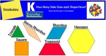Everyday Mathematics lesson 1.2 Pattern Blocks