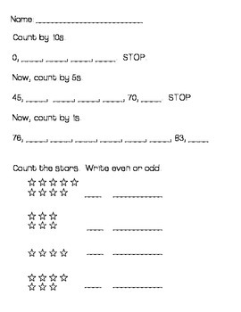 Everyday Mathmatics Unit 3 Worksheets First Grade