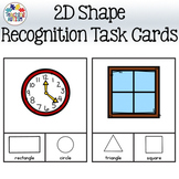 Everyday Object 2D Shape Recognition Task Cards