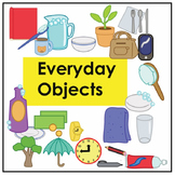 Everyday Objects Noun Vocabulary Flashcards and Activities