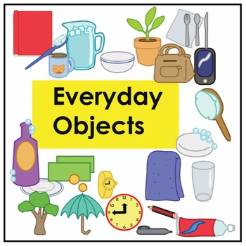 Everyday Objects Noun Vocabulary Flashcards-  ESL, LOTE &