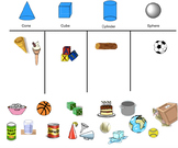 Everyday Objects Shape Sort