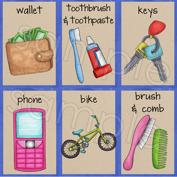 Everyday Objects flashcards for Speech and ELL (designed for Photo Printing)
