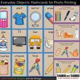 Everyday Objects flashcards for Speech and ELL (designed f