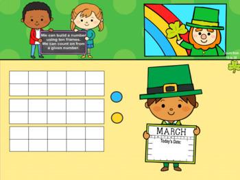 Everyday PROMETHEAN Calendar - March - Pre-K, K, 1st Grades