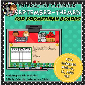 Everyday PROMETHEAN Calendar - September - Pre-K, K, 1st Grades