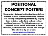 Everyday Posters for Postional Words
