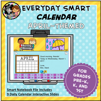 Everyday SMART Calendar - April - Pre-K, K, 1st Grades