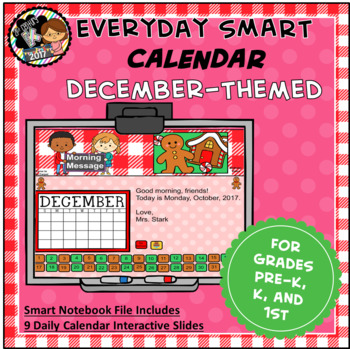 Everyday SMART Calendar - December - Pre-K, K, 1st Grades