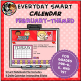 Interactive SMART Calendar - February - Pre-K, K, 1st Grades
