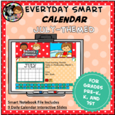Interactive SMART Calendar - July - Pre-K, K, 1st Grades