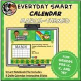 Interactive SMART Calendar - March - Pre-K, K, 1st Grades