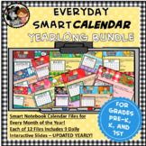 Everyday SMART Calendar Yearlong Bundle for Pre K, K, 1st