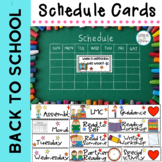 Schedule Cards Back to School: Everyday Schedule and Activ