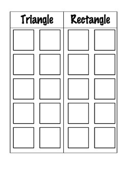 Everyday Shapes - File Folder Activity