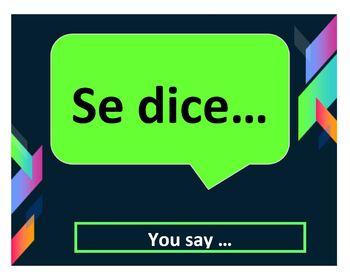 Everyday Spanish Phrases Poster Set