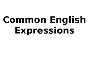 Everyday Useful English Expressions ESL Game