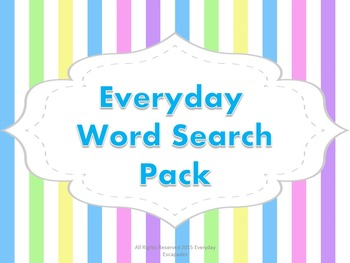 Everyday Word Search Pack