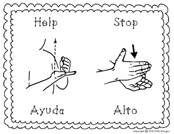 Everyday Words Sign Language Posters