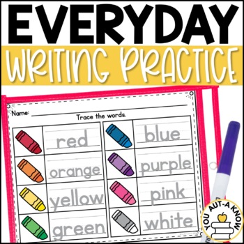 Everyday Writing Practice: Handwriting and Tracing Practice for Basic Skills