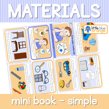 Everyday materials and their properties mini book (Simplified version)