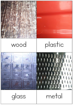 Everyday materials and their properties nomenclature cards