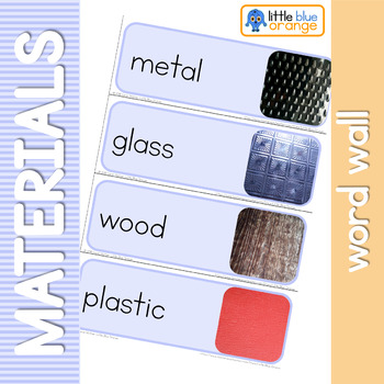 Everyday materials and their properties word wall