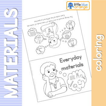 Everyday materials and their proprties coloring booklet