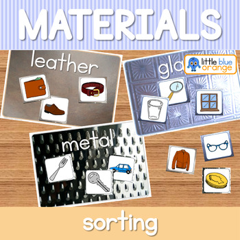 Everyday materials sorting activity