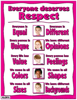 Everyone Deserves Respect Poster - PBIS