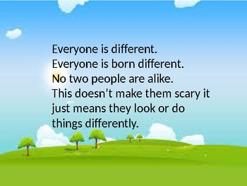 Everyone Is Different Social Story Power point