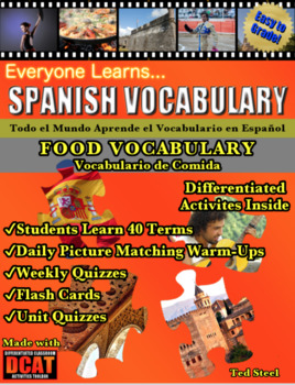 Everyone Learns Spanish Vocabulary: Food Vocabulary (Vocabulario de Comida)
