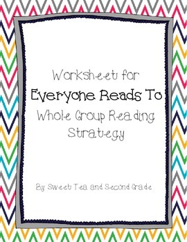 Everyone Reads To... A Non-Fiction Reading Strategy