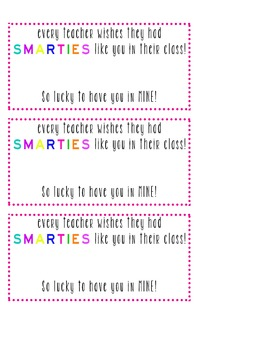 "Everyone Wishes They Had ""Smarties"" Like You!"