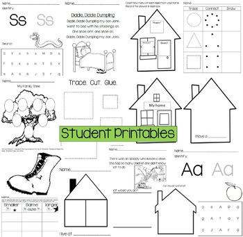 Preschool Unit 5: Everyone has a Family (Preschool Lessons and Activities)