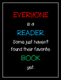 Everyone is a Reader Poster
