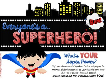 "Everyone's A Superhero! - An ""All About Me"" Unit with a Punch!"