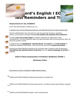 Everything Anyone Needs to Know About English STAAR EOC