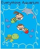 Everything Aquarium MEGA PACK - Math and Literacy Skills for K-3 & sea / ocean