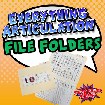 Everything Articulation File Folders
