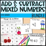 Adding and Subtracting Mixed Numbers - 4th Grade Math - Everything But the Dice