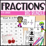 Complete Fractions Unit - 25 days of 4th grade math - Everything But the Dice