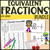 Equivalent Fractions Interactive Math Unit for 4th grade