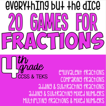20 Games for Fractions - Everything But the Dice