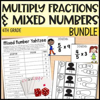 Multiplying Fractions and Mixed Numbers - 4th Grade Math-Everything But the Dice