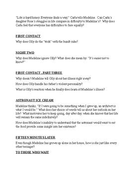 Everything Everything Novel Unit-Grades 8 -12