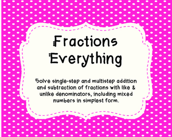 Everything Fractions - Math to Self, Someone, and Journal.