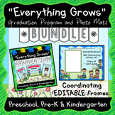 Everything Grows Graduation and Editable Photo Frames for End of Year BUNDLE