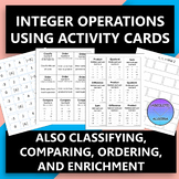 Everything Integers with Activity Cards